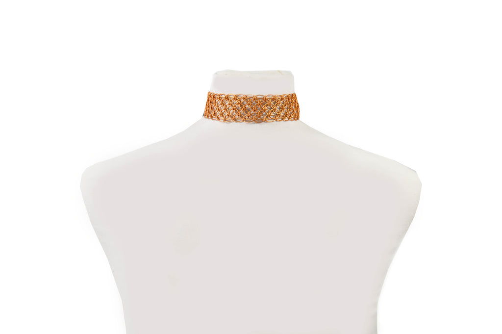Macrame Copper Choker