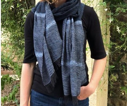 Cabo Scarf - Black/Blue