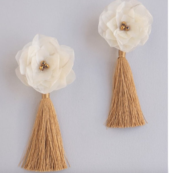 Pom-Pom Scale Earrings