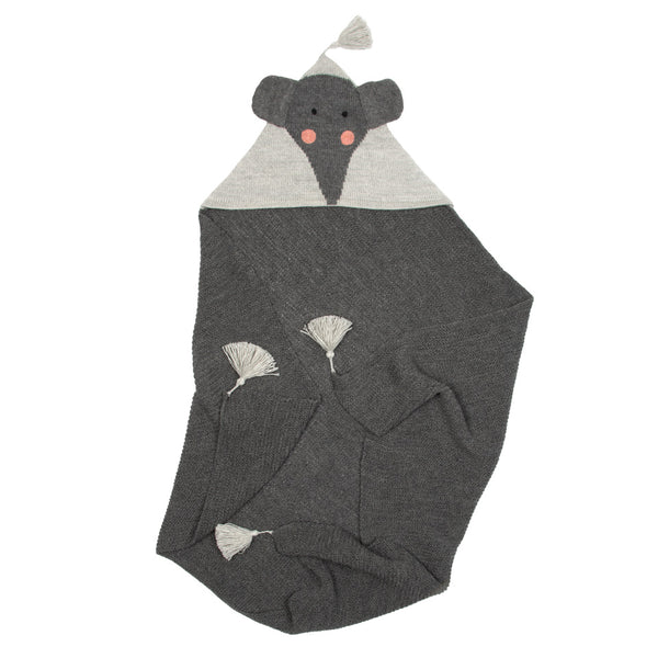 Elephant Blanket - Charcoal/Grey