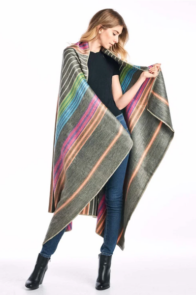 Brushed Alpaca Throw - Fireworks