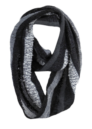 Infinity Alpaca Scarves - Boucle - Charcoal