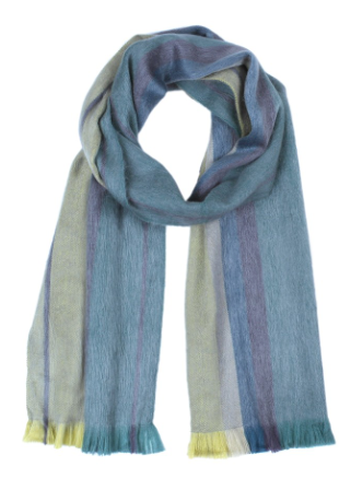 Brushed Alpaca Scarves - Golden Green