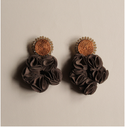 Rose Earrings - Copper