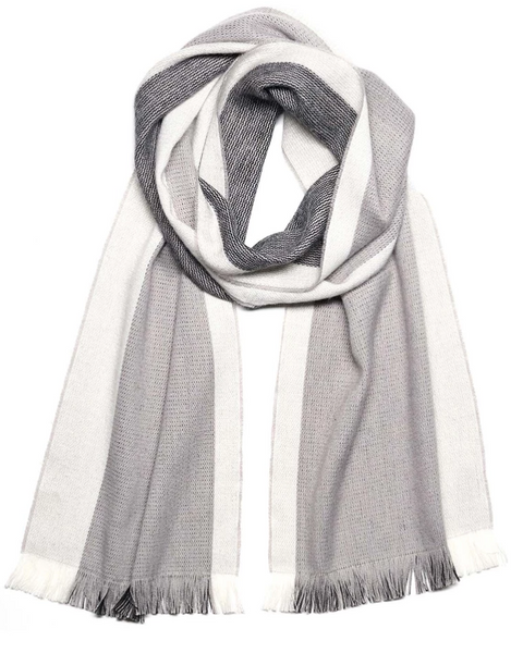 Alpaca Reversible Scarf - Jetstream