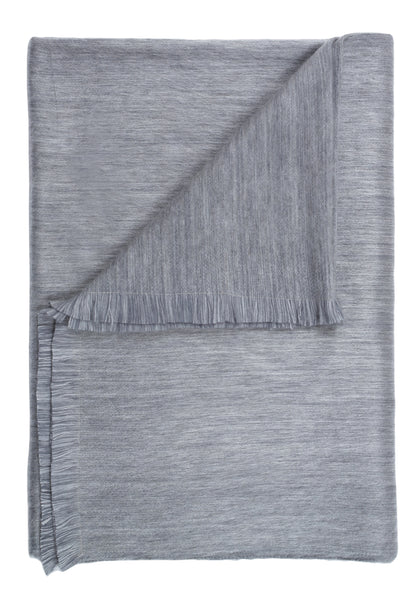 Brushed Alpaca Throw - Pewter Sky
