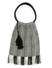 Coya Bag - Squares - Black Tassel
