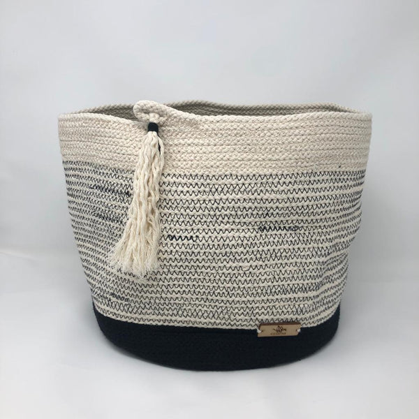Cotton Basket - XL - Black Seam