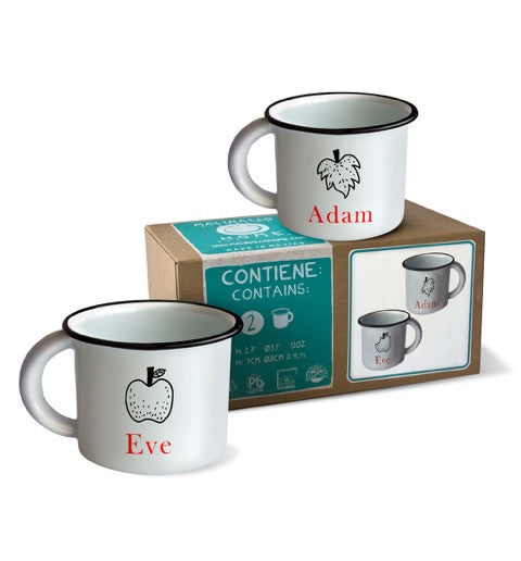 Adam & Eve Mug - Set of 2