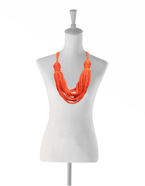 Cotton Peace Necklace Orange