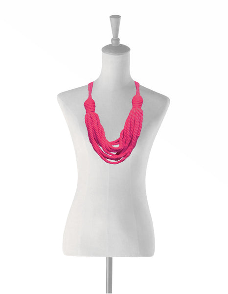 Cotton Peace Necklace Pink