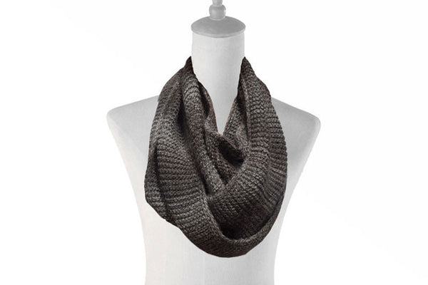 Infinity Alpaca Scarves - Highland - Charcoal