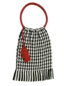 Coya Bag - Houndstooth - Red Tassel