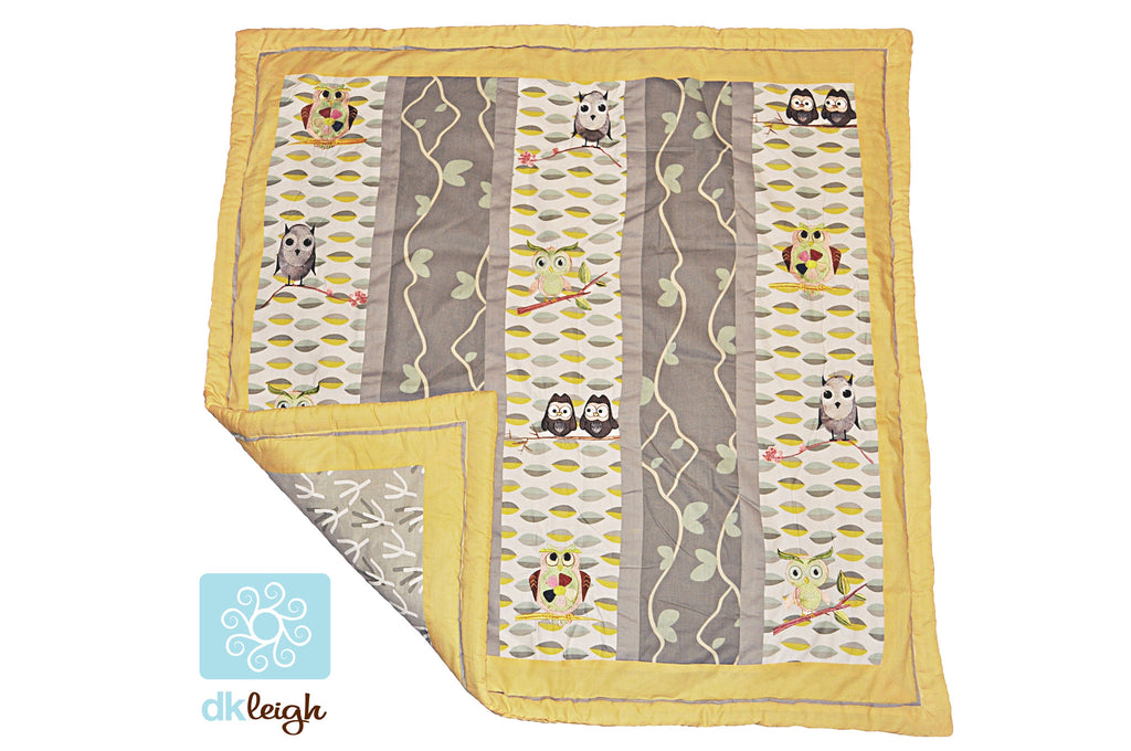 7 Piece Owl Crib Bedding Set