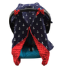 Minky Lined Car Seat Canopy/Cover - Anchor Red Minky