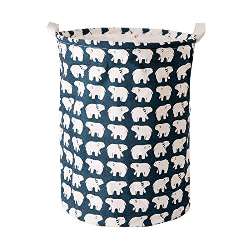 Baby Storage / Laundry Bag Collapsible Bucket - Polar Bear Pattern