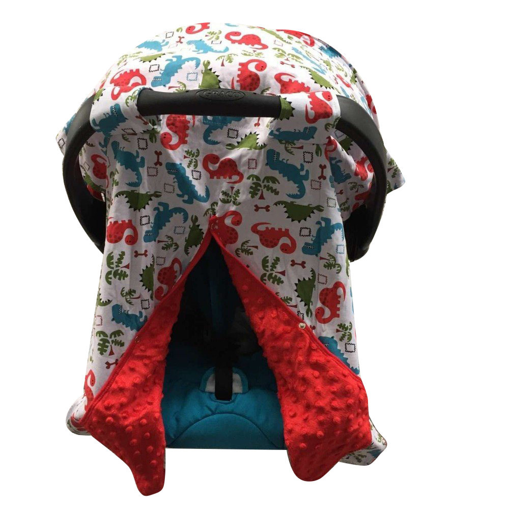 Minky Lined Car Seat Canopy/Cover - Dinosaur Red Minky ...  sc 1 st  dk leigh & Minky Lined Car Seat Canopy/Cover - Dinosaur Red Minky | DK LEIGH