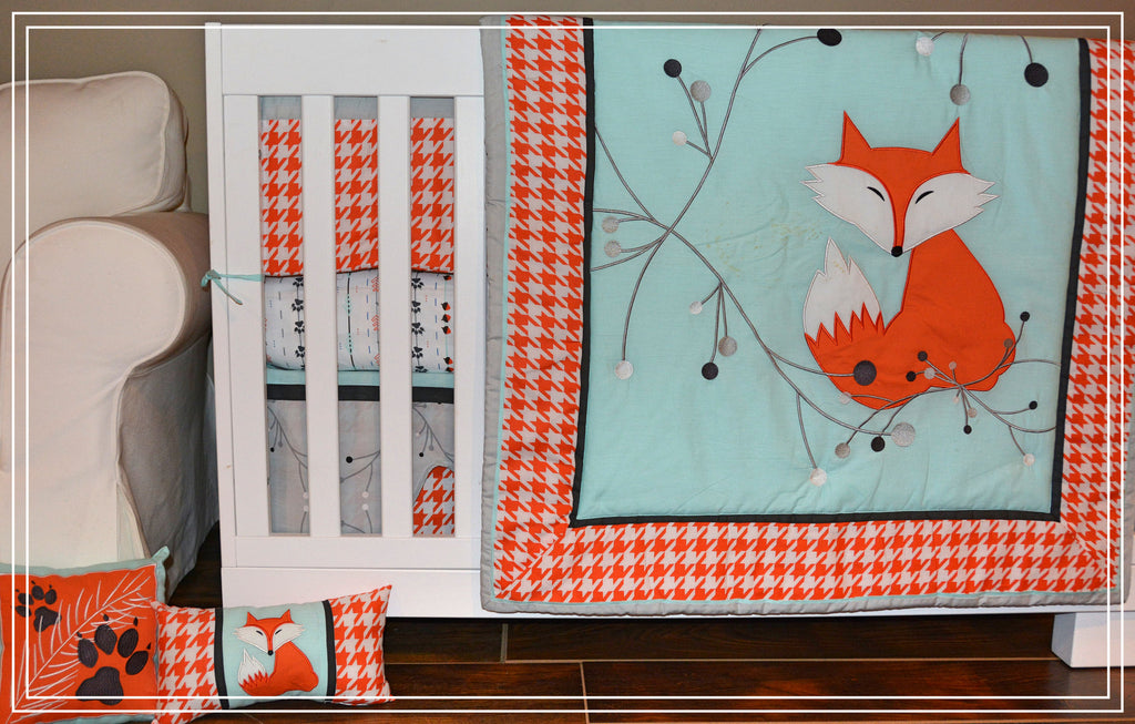 7 Piece Fox Crib Bedding Set