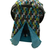 Minky Lined Car Seat Canopy/Cover - Guitar Blue Minky