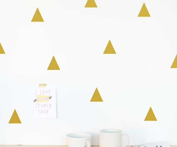 Triangle Wall Sticker Baby Nursery Wall Decals for Kids Room Modern Triangle