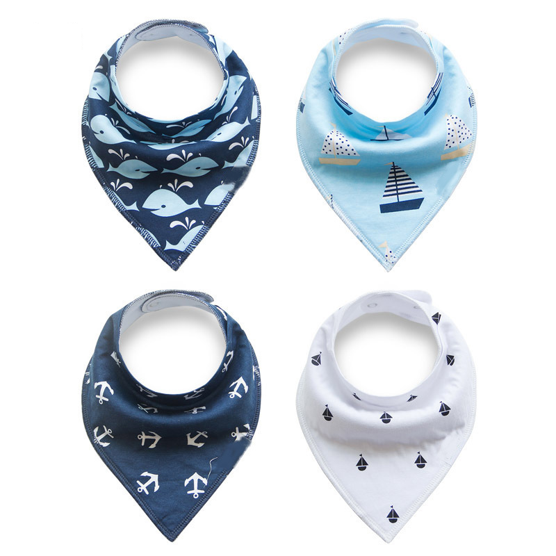 Baby Bandana Bibs - 4 PACK Nautical