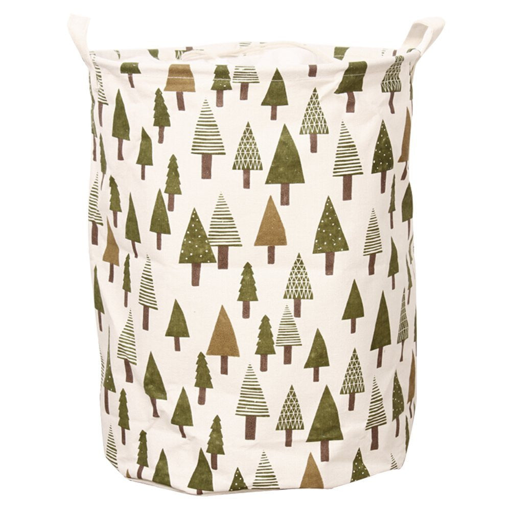 Baby Storage / Laundry Bag Collapsible Bucket - Pine Tree Pattern