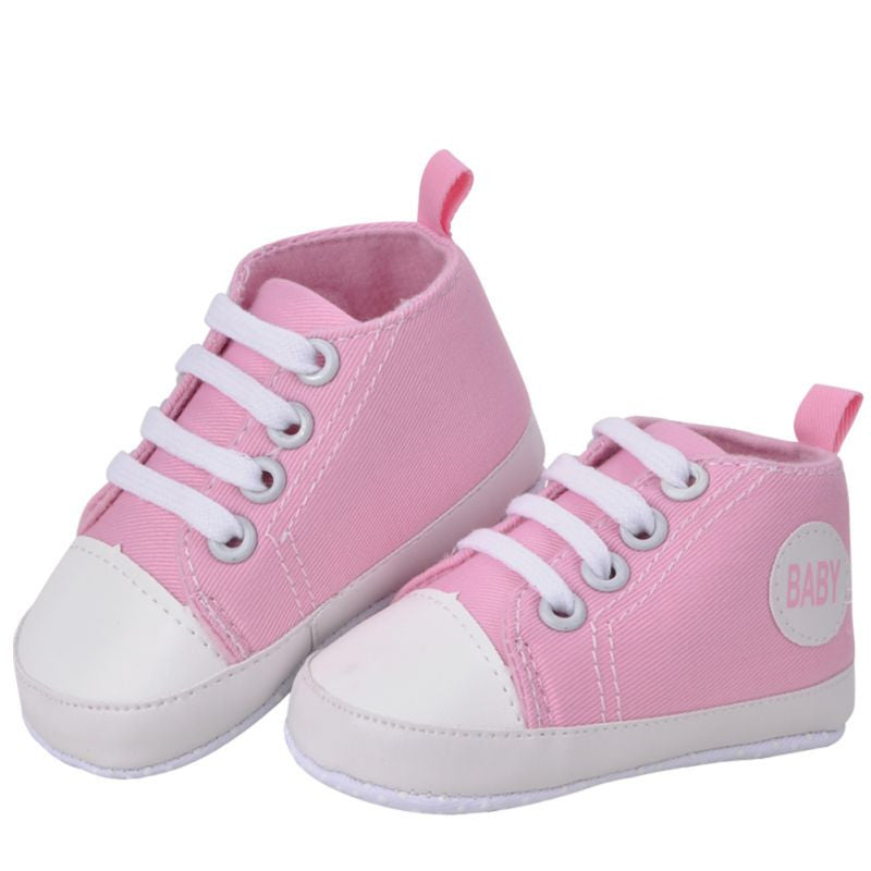 Baby Sneakers Boy / Girl Soft Bottom First Walkers - Pink