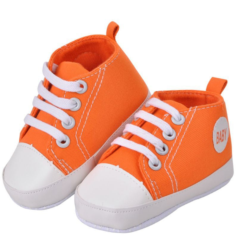 Baby Sneakers Boy / Girl Soft Bottom First Walkers - Orange