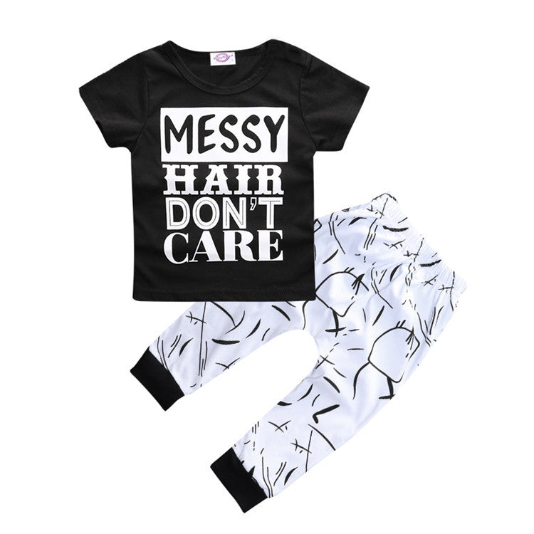 2 Piece Baby Outfit Short Sleeved T Shirt & Pants