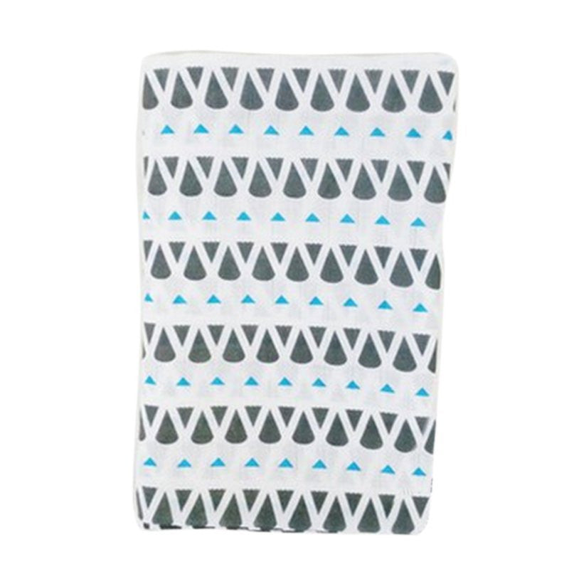 Muslin Cotton Baby Swaddle For Newborn Baby - Blue Geometric