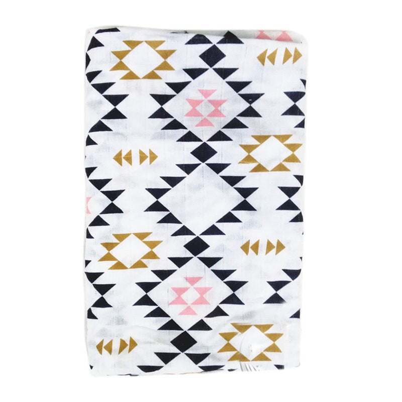 Muslin Cotton Baby Swaddle For Newborn Baby - Aztec