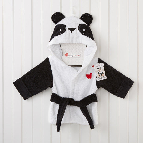 Baby Infant Girl / Boy Cotton Hooded Bathrobe Towel - Panda
