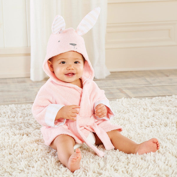 Baby Infant Girl / Boy Cotton Hooded Bathrobe Towel - Rabbit