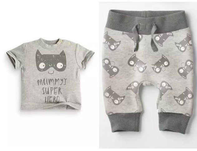 Short Sleeve 2 Piece Baby Boy Clothing Set - Superhero