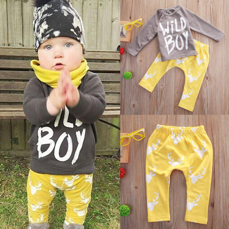 2pc Boys Clothing Set T-Shirt + Casual Trousers