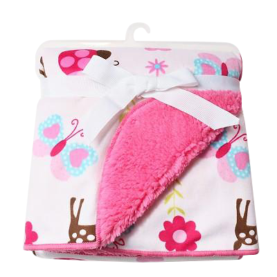 Luxurious Soft Fleece Baby Blanket - Girl Pink