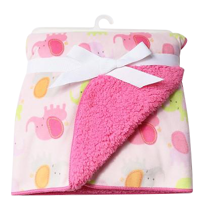 Luxurious Soft Fleece Baby Blanket - Pastel Animal