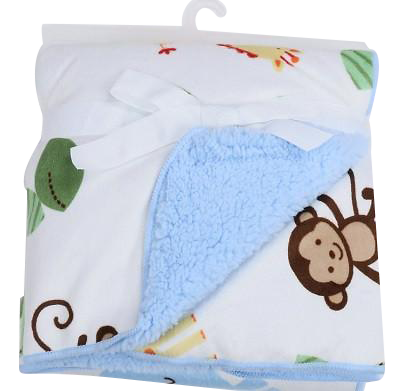 Luxurious Soft Fleece Baby Blanket - Monkey
