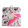 Luxurious Soft Fleece Baby Blanket - Girl Forest Animals