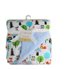 Luxurious Soft Fleece Baby Blanket - Forest Animals