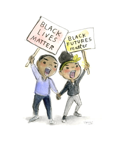 Black Lives Matter Protestors Art Print Download