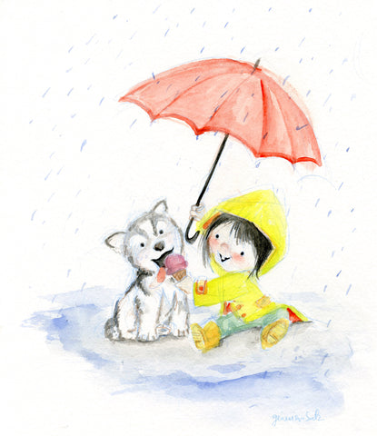 Ice Cream in the Rain Art Print