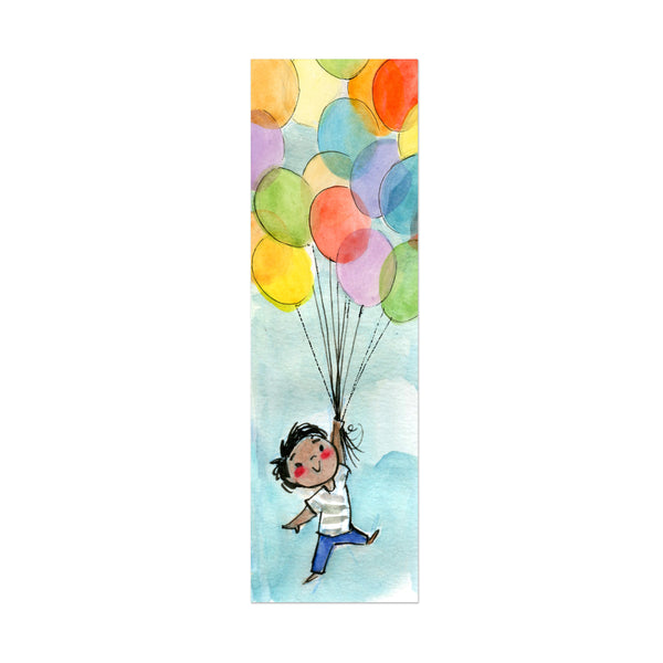 Balloon Boy Canvas Bookmark