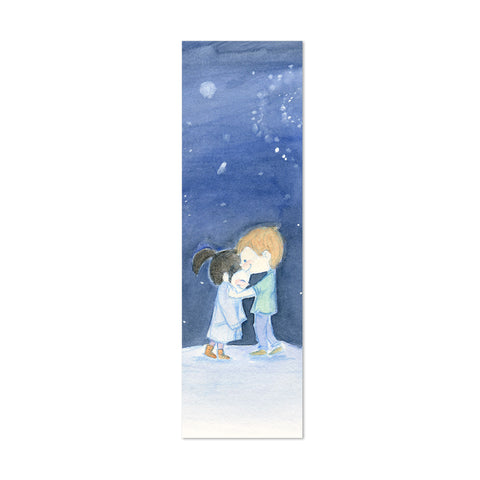Cozy Coat Canvas Bookmark