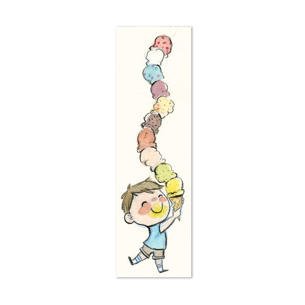 Ice Cream Boy Canvas Bookmark