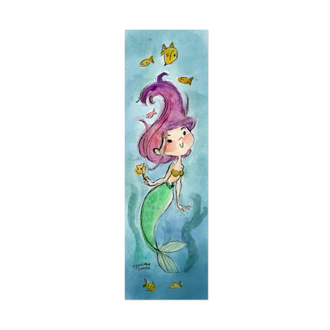 Mermaid Canvas Bookmark