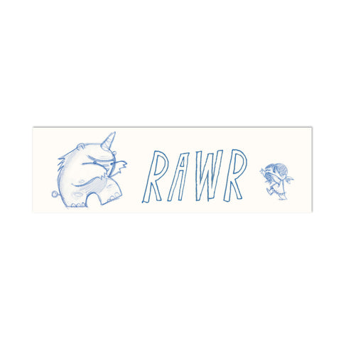 Rawr Canvas Bookmark