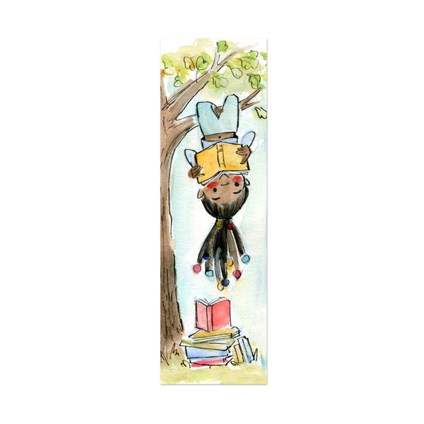 Reading Under the Tree Canvas Bookmark