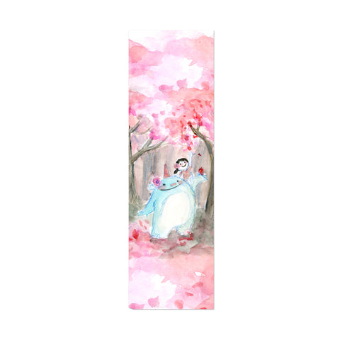 Sakura Kaiju Canvas Bookmark