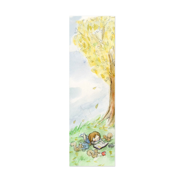 Sleepy Reading Canvas Bookmark